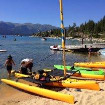 Kayak sailing Lake Tahoe