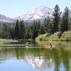 Kayaking Manzanita Lake