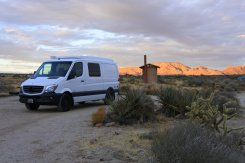 Homie-in-the-wall campground, Mojave